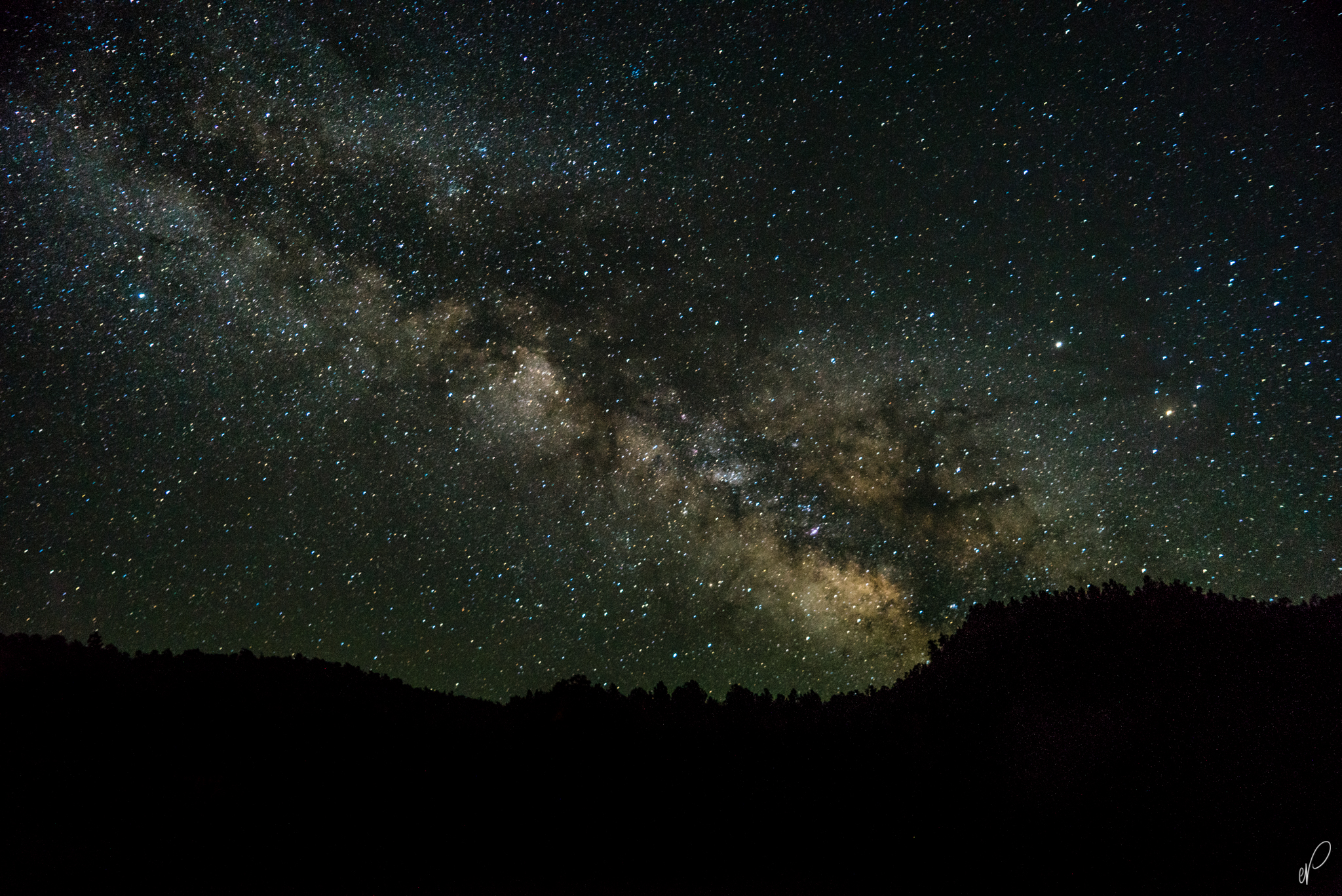 The milky way as seen from our campsite.