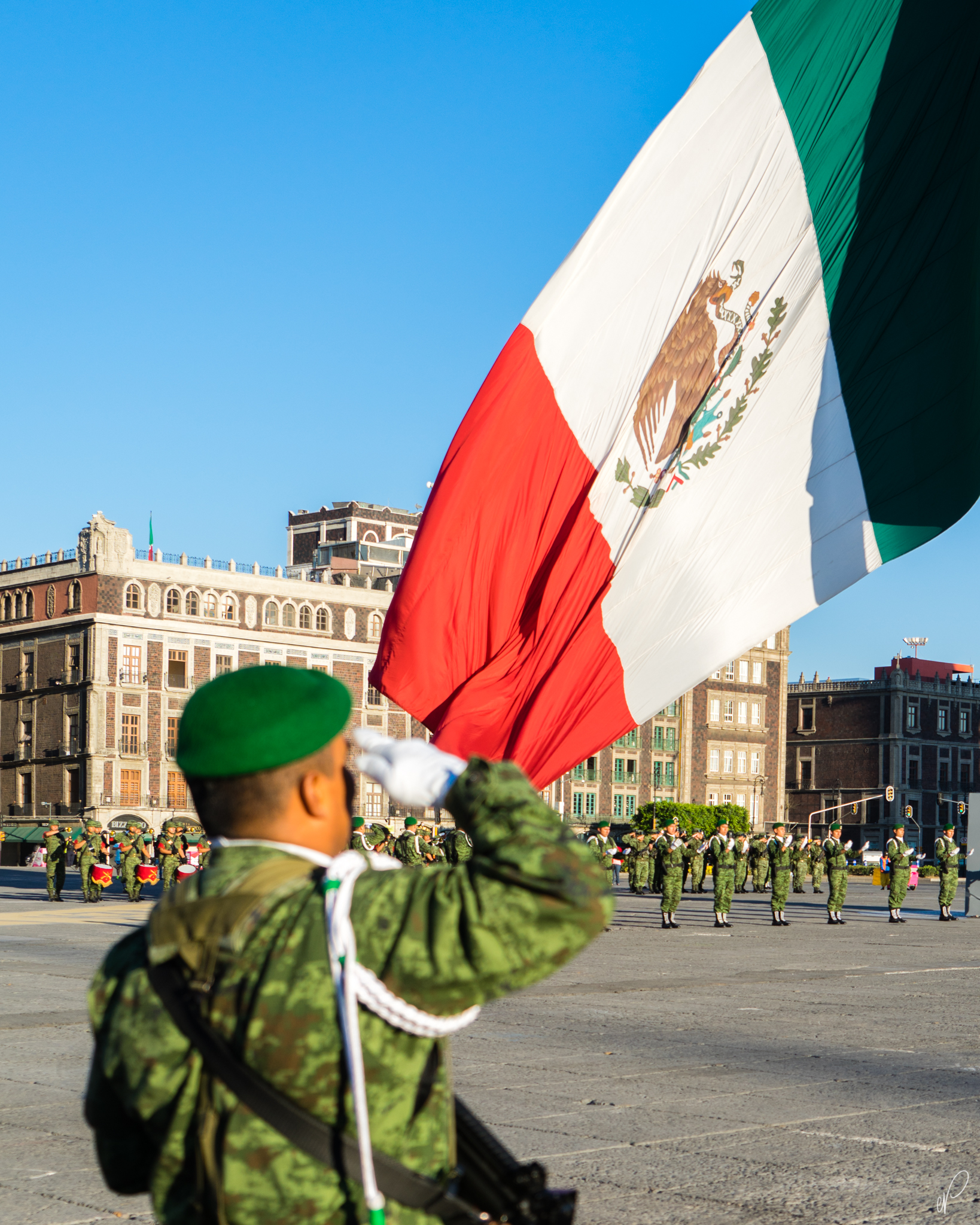 Flag Raising Ceremony in Zocalo
