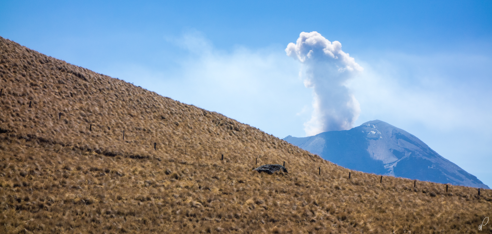 Mini-eruption of Popocatepetl