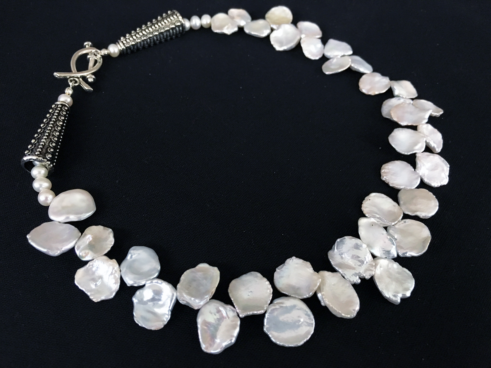 Snow White 2018  Necklace  Freshwater Pearl, Sterling Silver