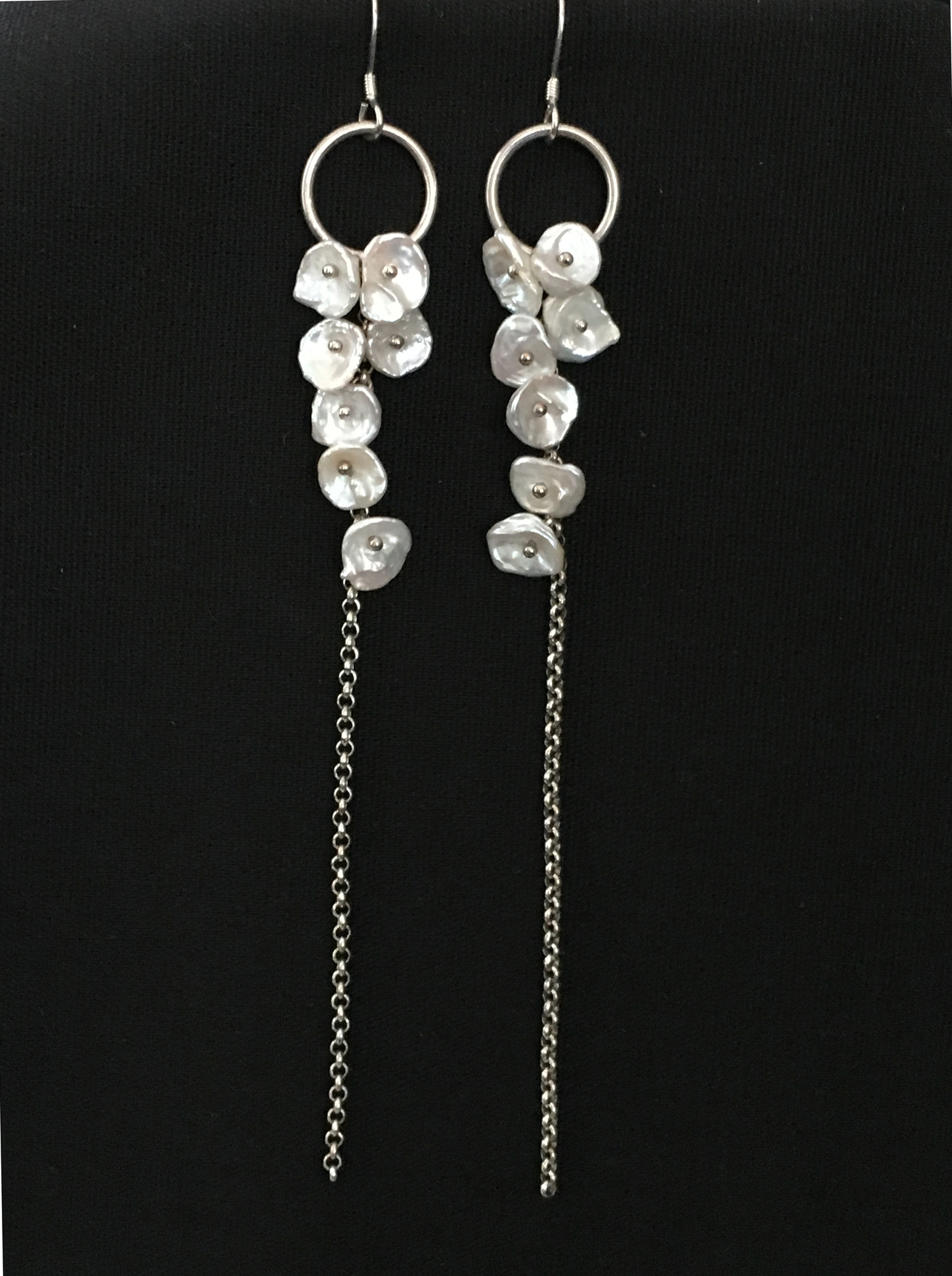 Petals   2008  Necklace & Earrings  Freshwater Keishi Pearl, Sterling Silver