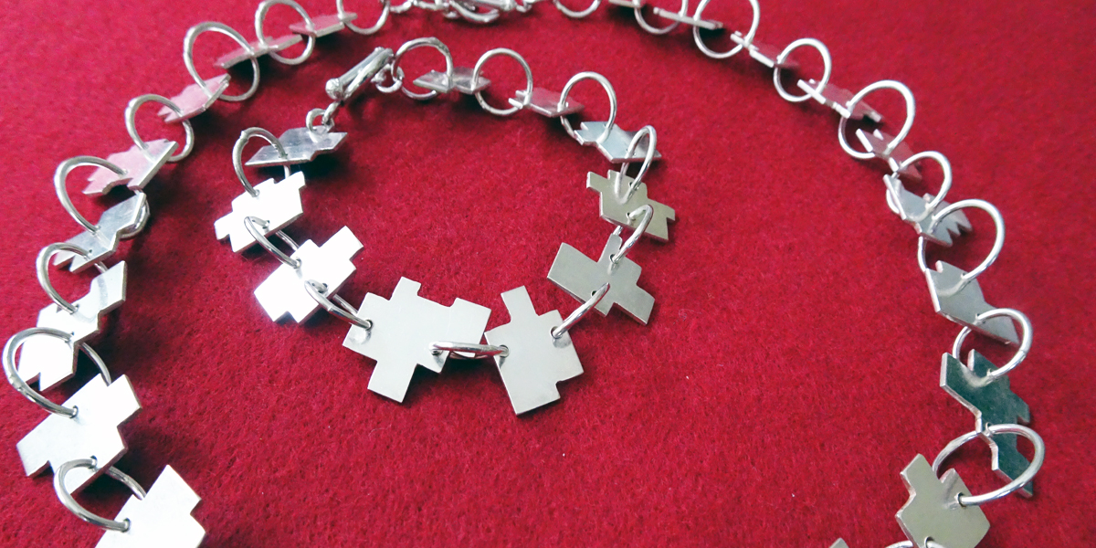 Square Puzzle 2008  Necklace, Bracelet & Earrings  Sterling Silver