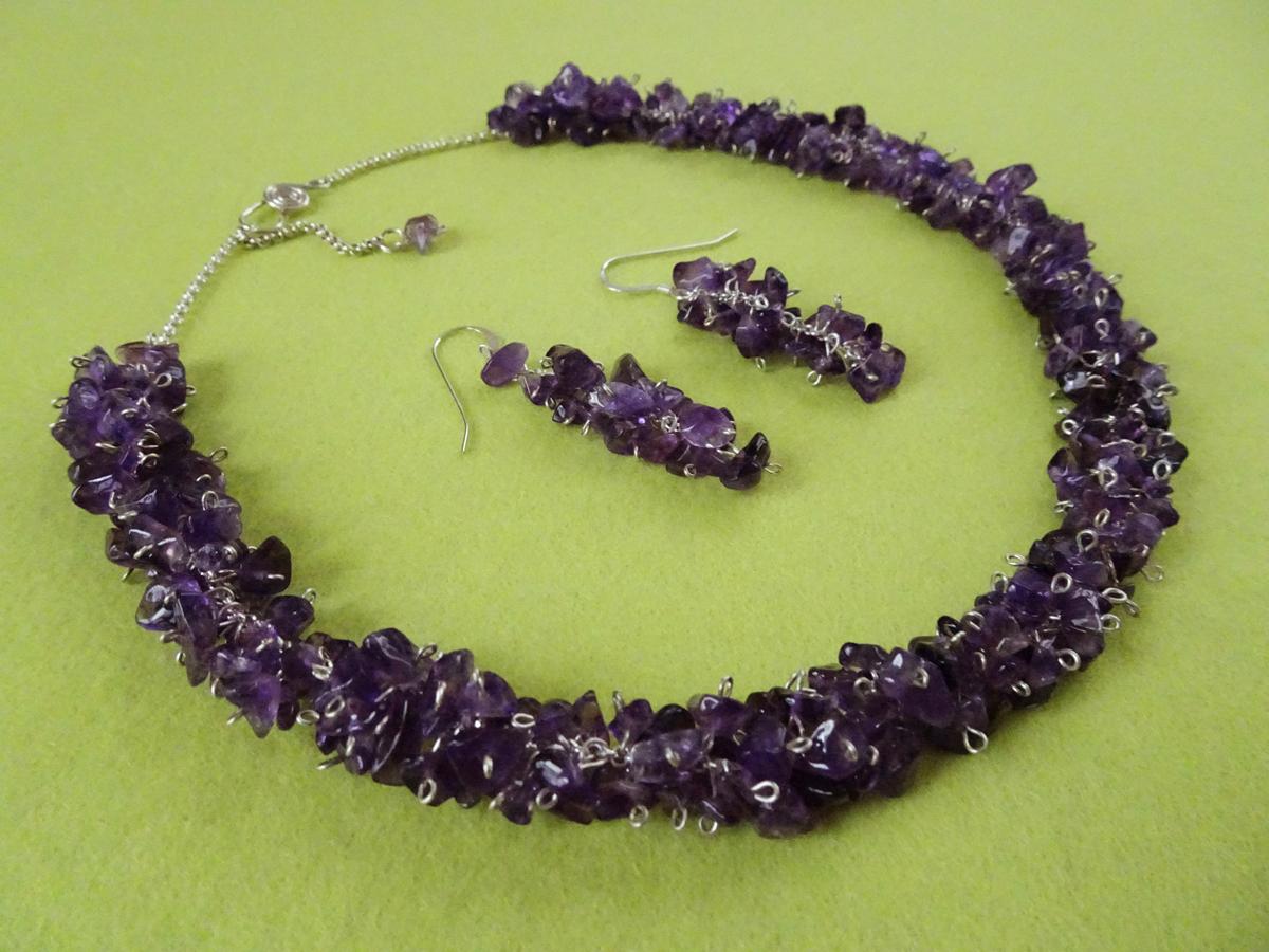 Grapevine 2014  Necklace & Earrings  Amethyst, Sterling Silver