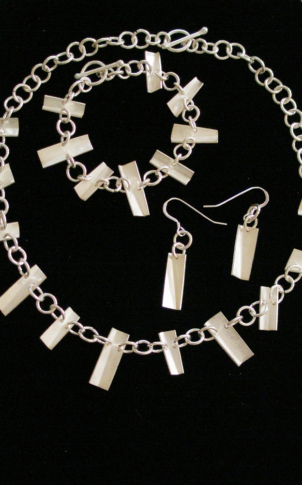 Twisted 2008  Necklace, Bracelet & Earrings  Sterling Silver