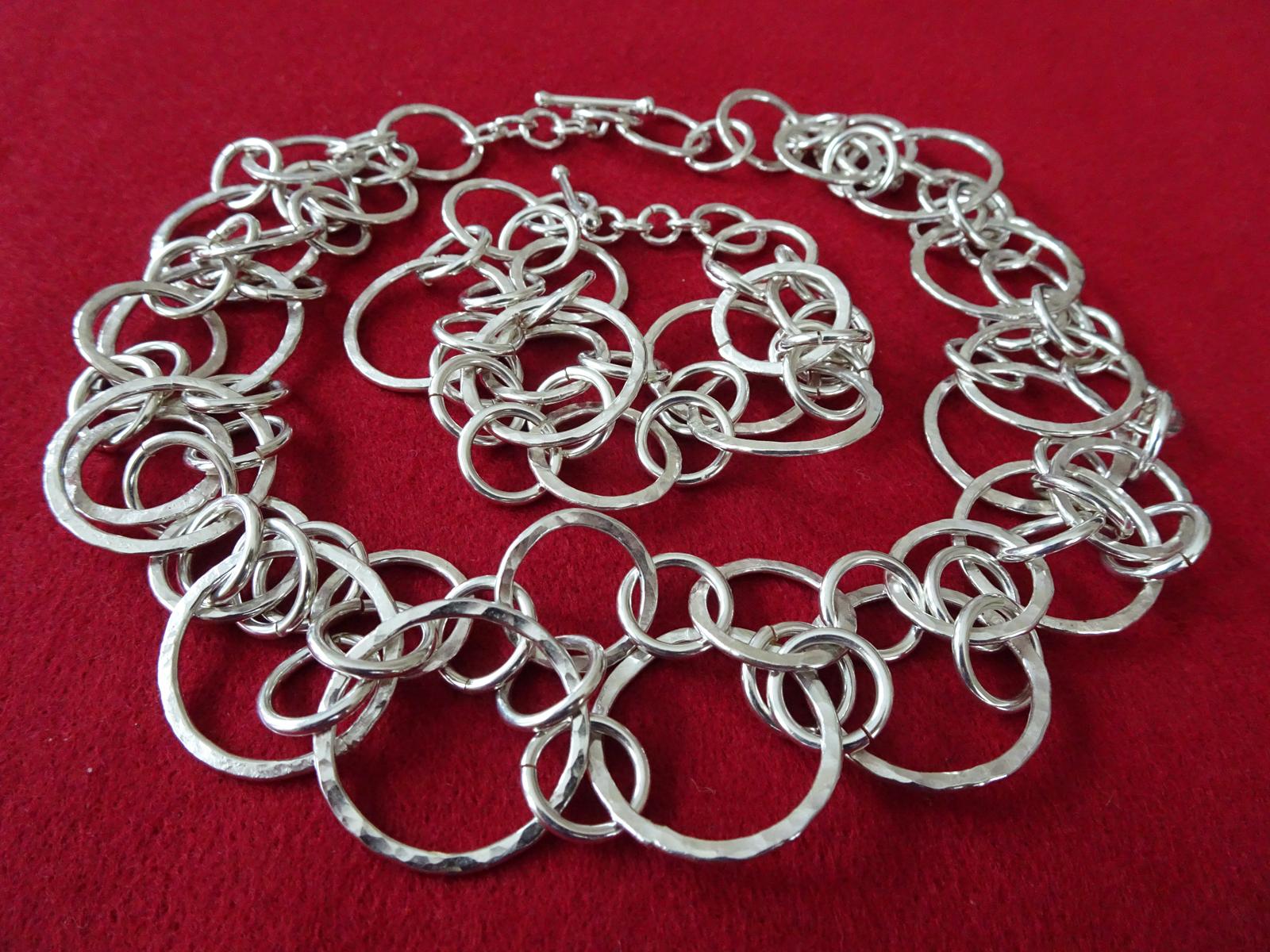 Tangled Circles 2010  Necklace & Bracelet  Sterling Silver
