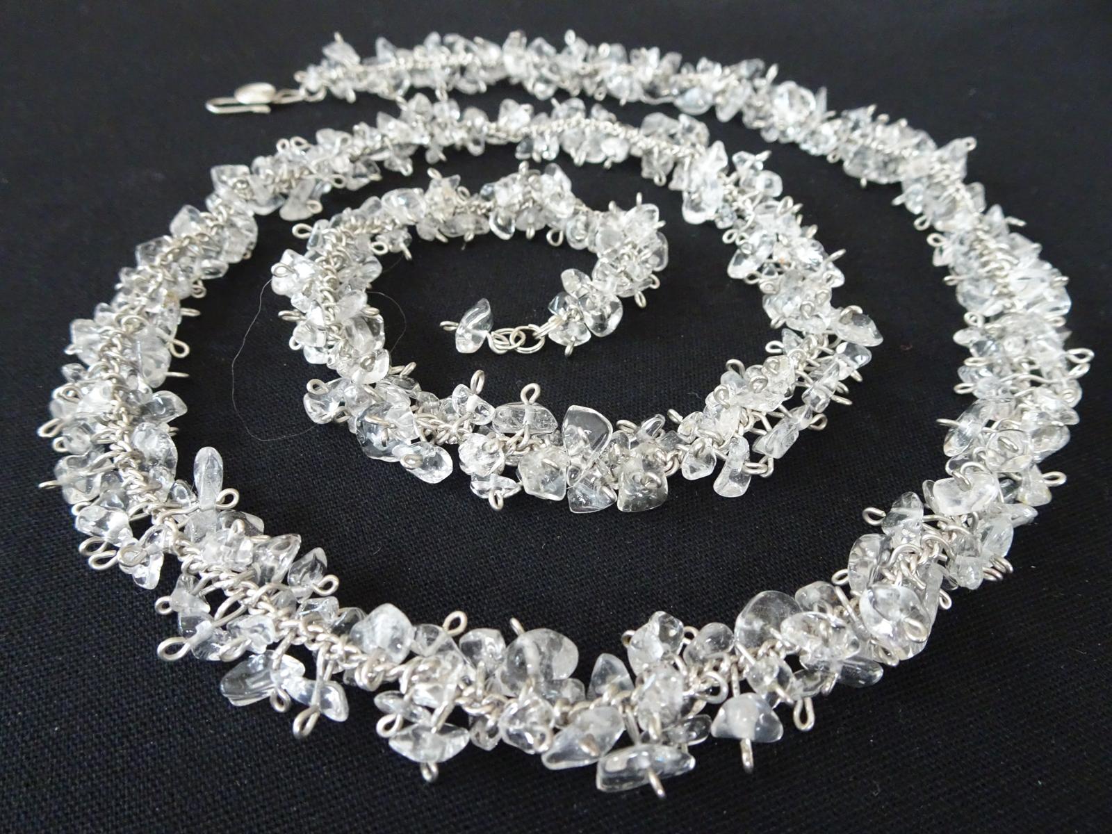 Snow Flakes 2005  Necklace  Quartz, Sterling Silver