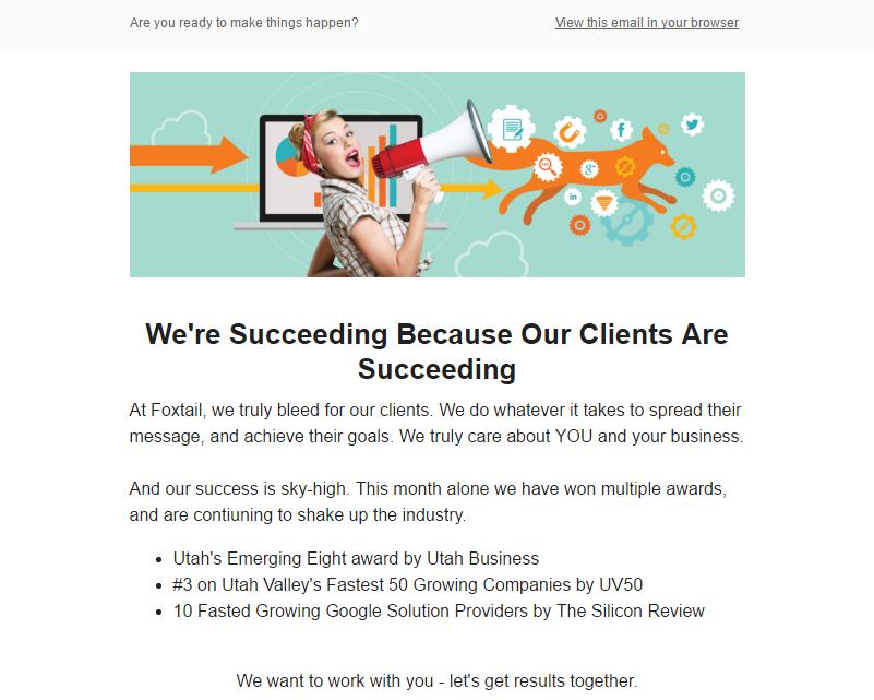 Email Nurture - Written & Designed by Sara