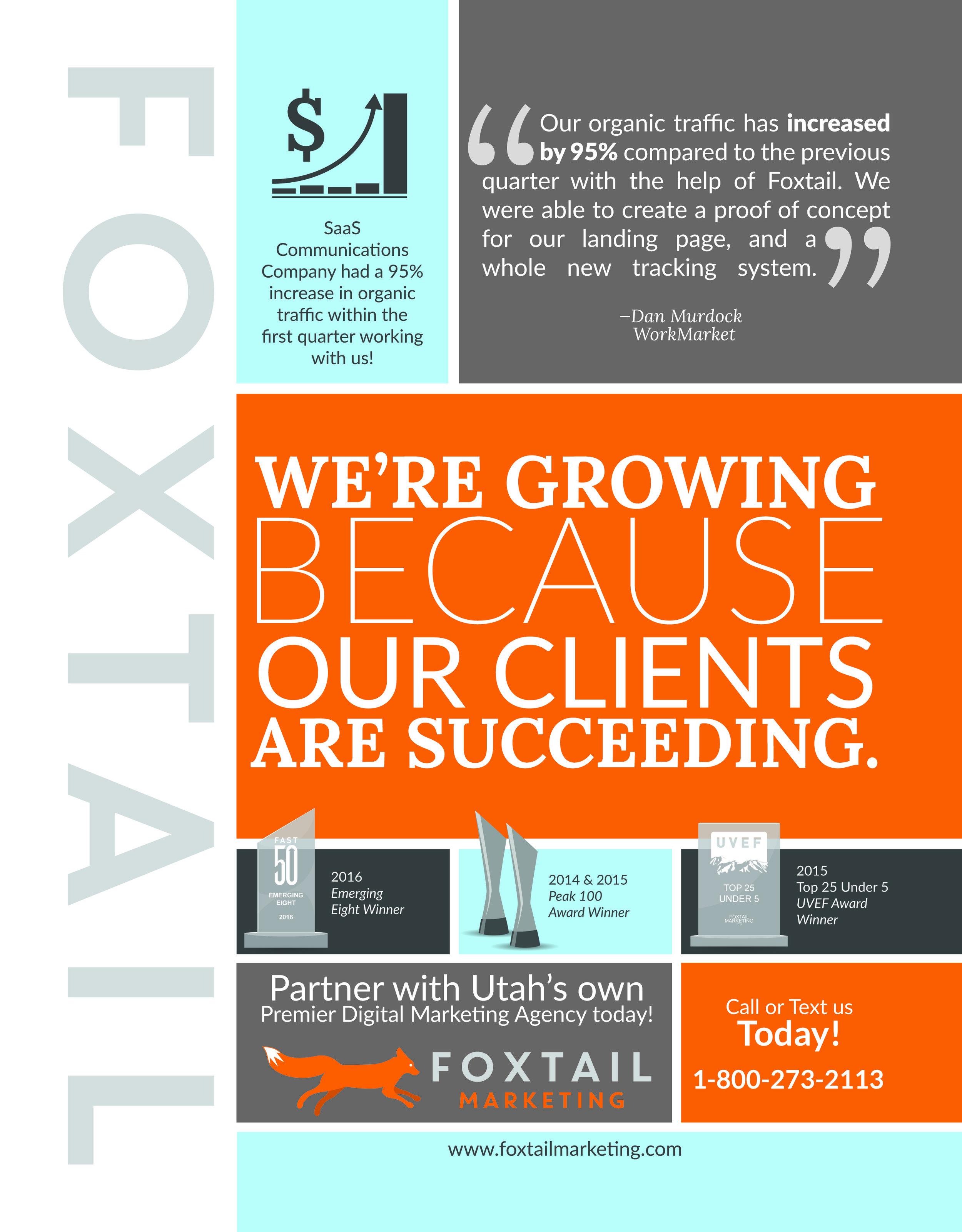 Utah Business Magazine Ad - Created by Sara Davis