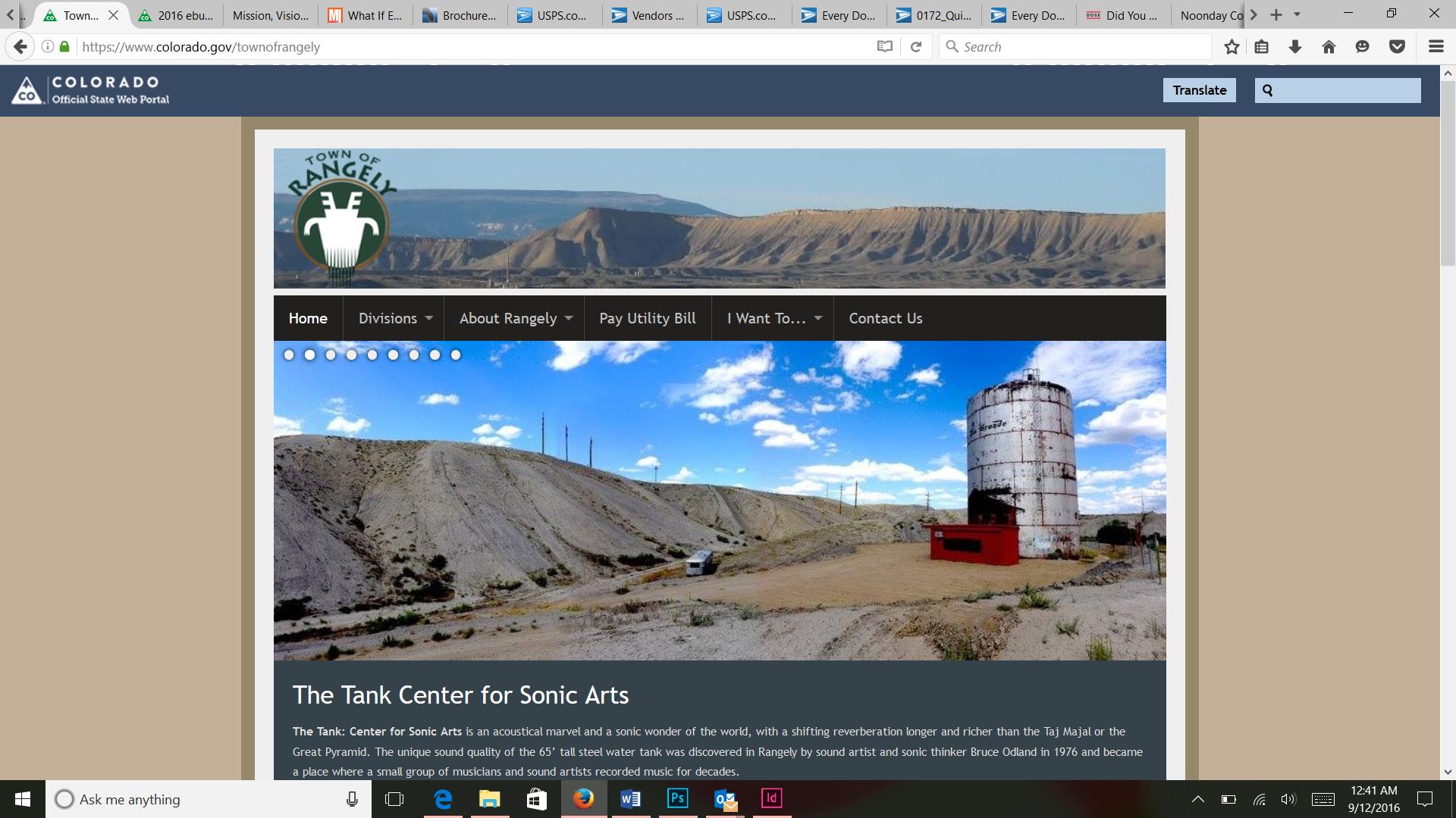 Town of Rangely website