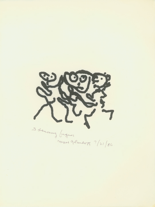 Three Dancing Figures #1  7/21/86