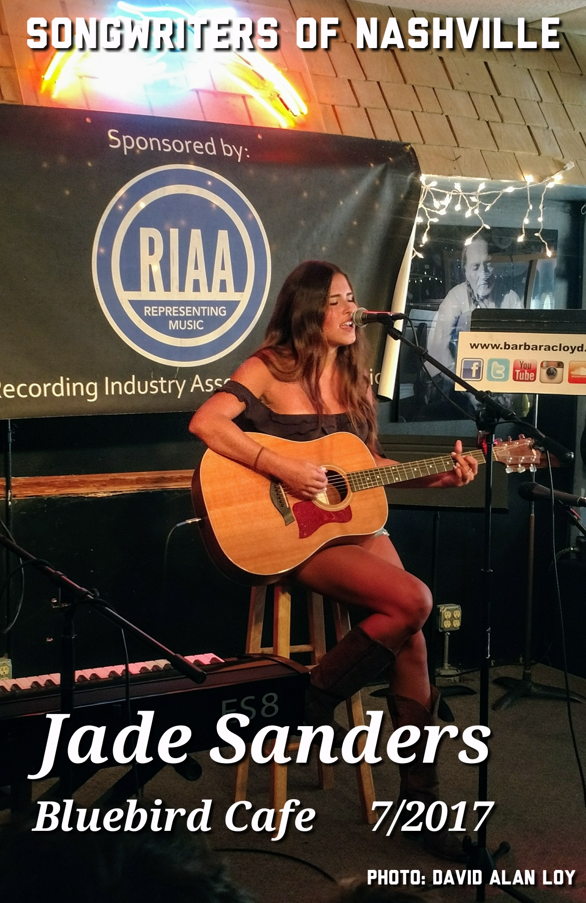 Jade performed for the first time at the Bluebird!7/2017 -
