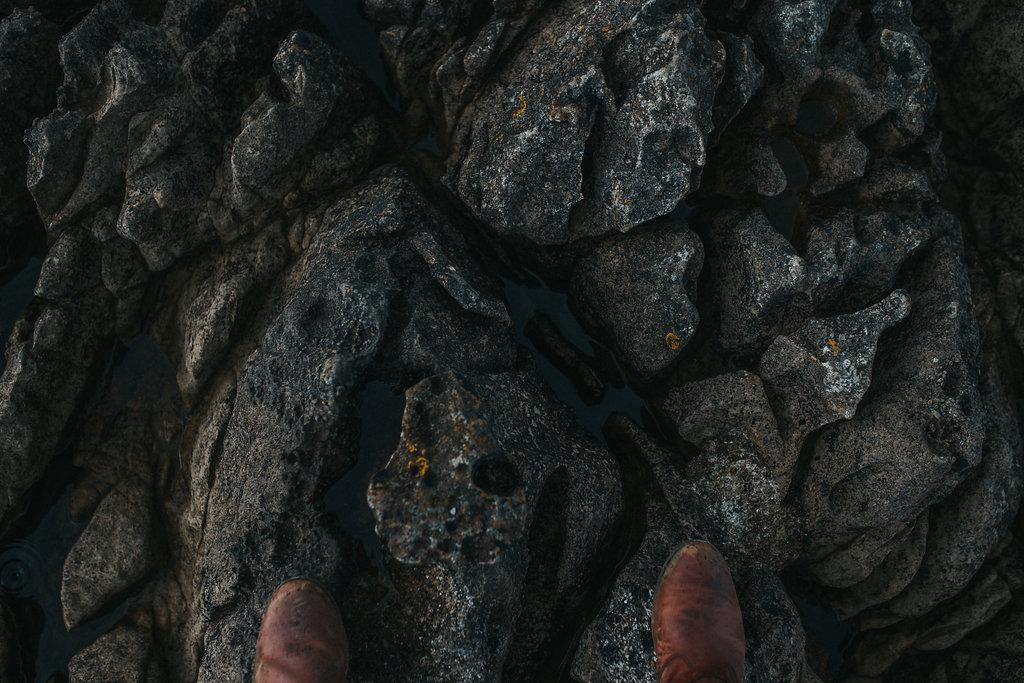 teva delavina boots on rocks on irish coast