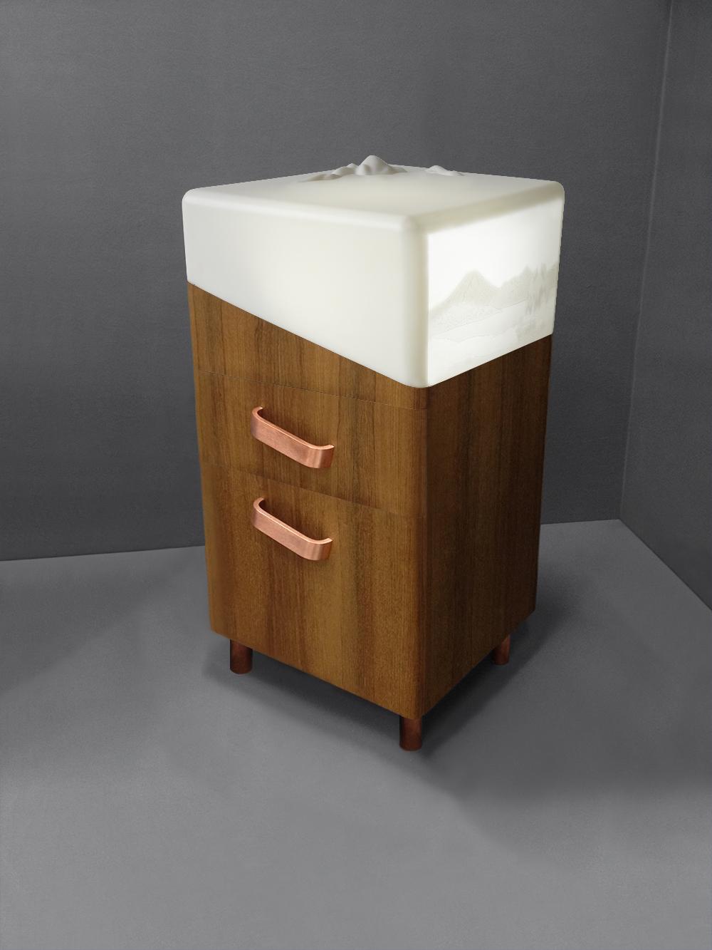 Jardin d'Hiver bedside cabinet drawers 3:4- Copyright 2015 Géraldine Biard.jpg