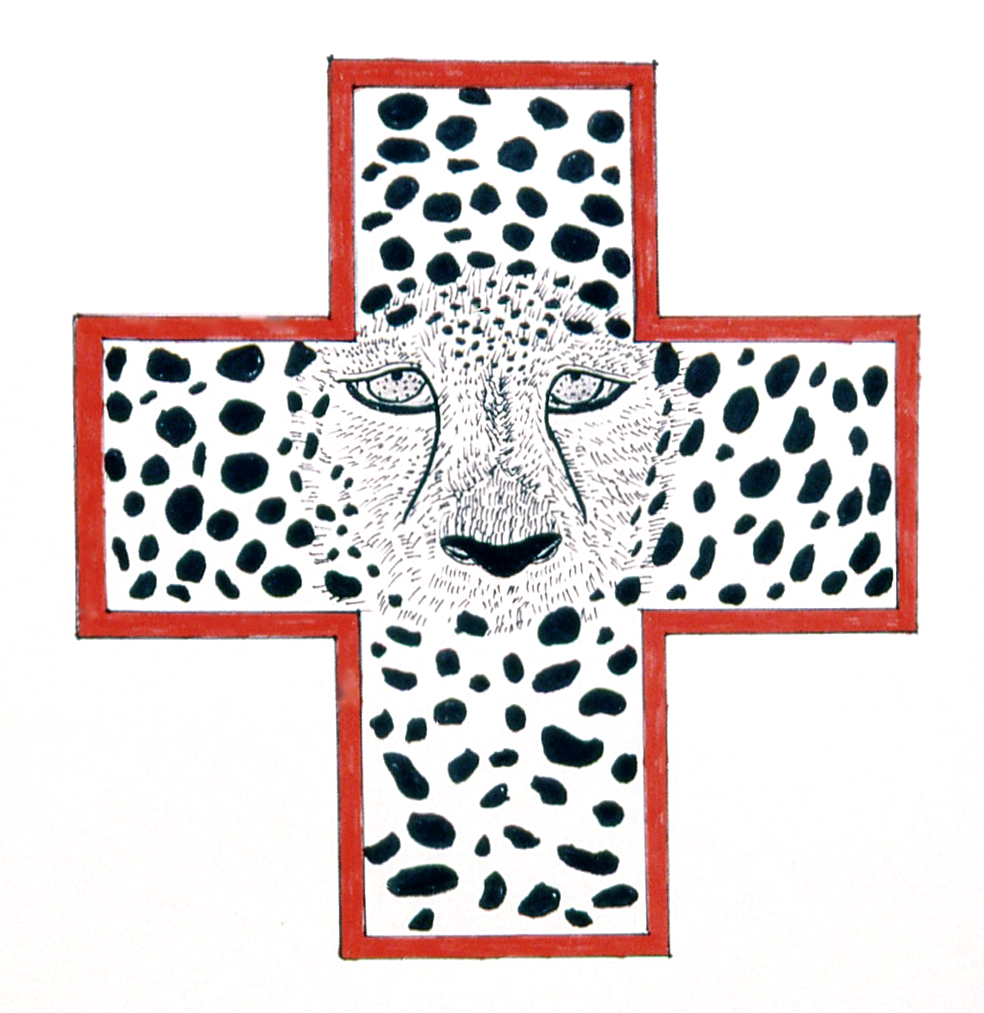 Endangered Cheetah, ink on paper, 14x18 (1995)