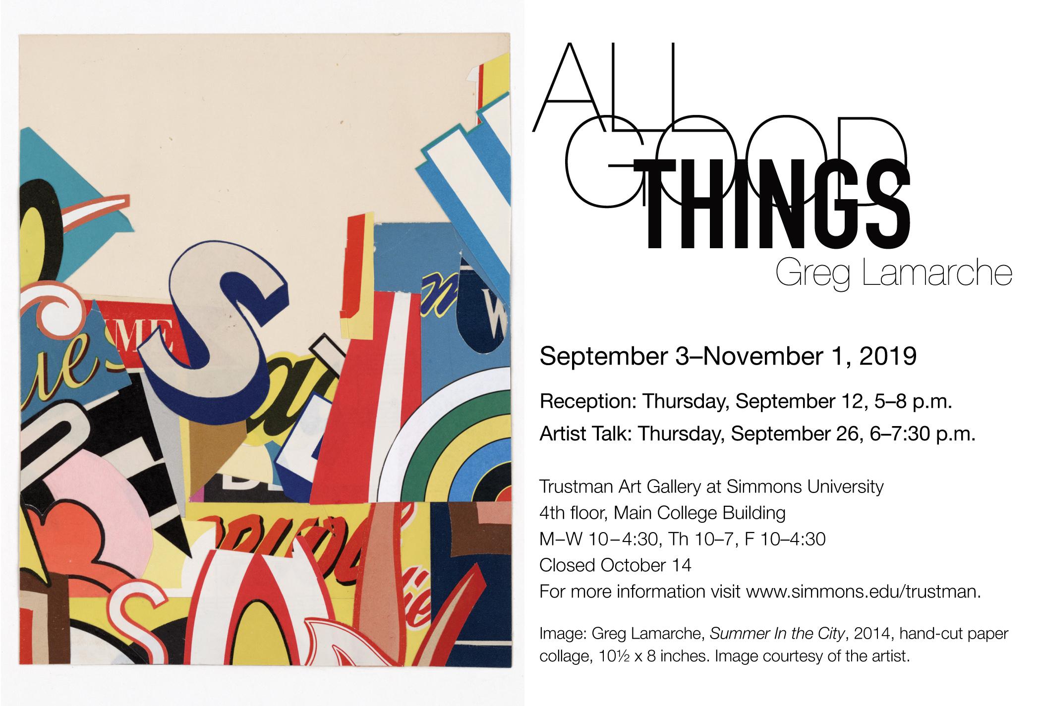 Greg Lamarche at Trustman Art Gallery at Simmons University