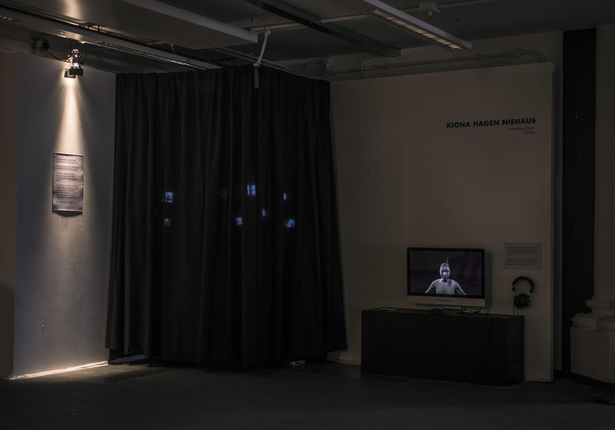 Assembling Desire , installed at Goldsmiths, University of London during Metasis MA/MFA Computational Arts Exhibition, 8-11 September 2016