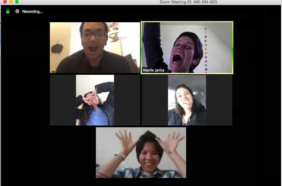Members of a 2017 coaching group on Zoom.