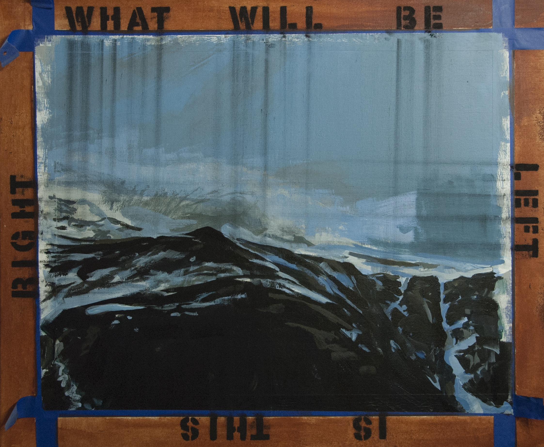 What Will Be Works Both Ways. 2018. Acrylic, charcoal, painter's tape on canvas. 40 x 48.jpg