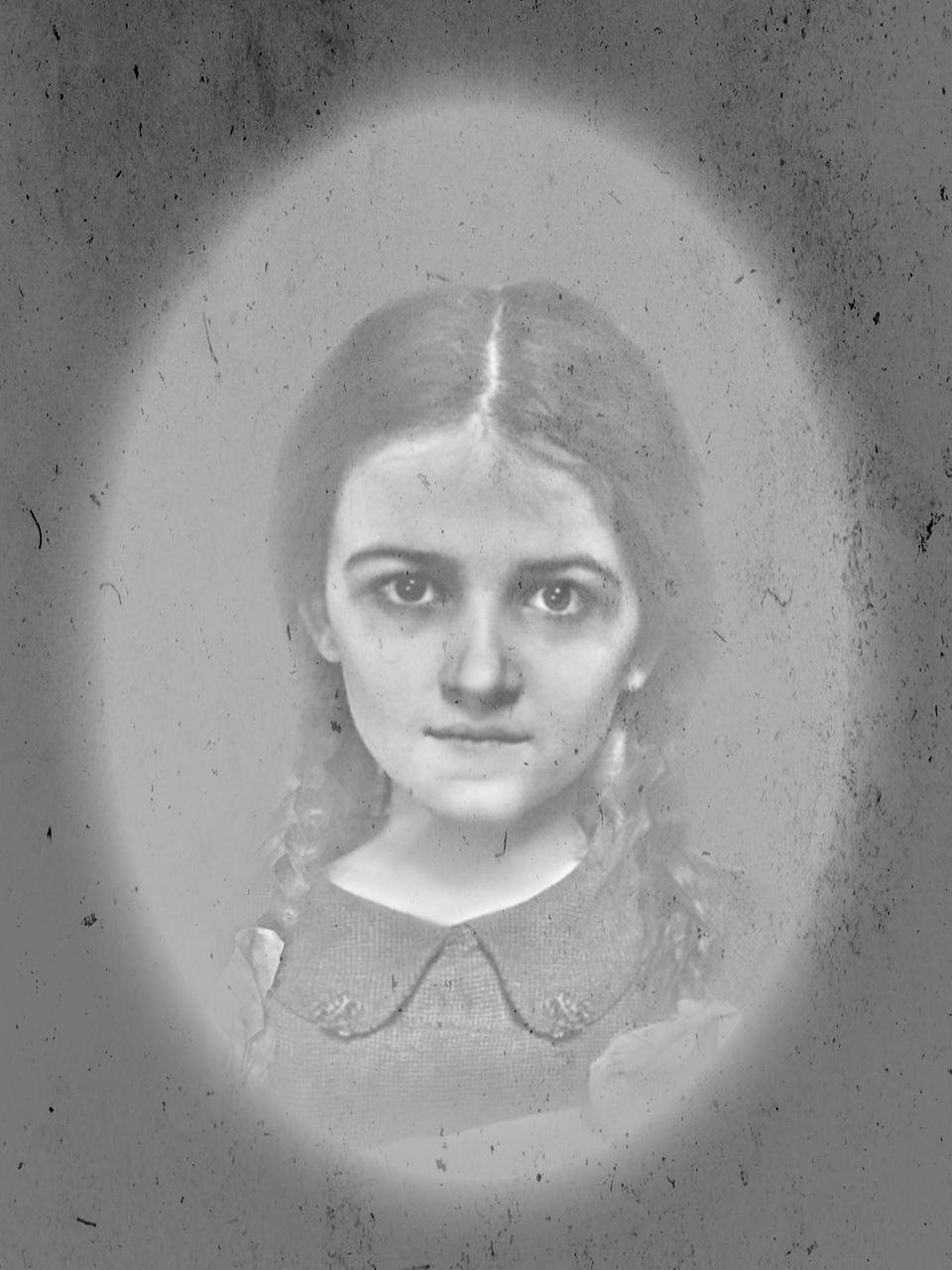 Sickly child portrait