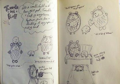 Tweedy & Fluff Development Sketches by Corrinee Averiss
