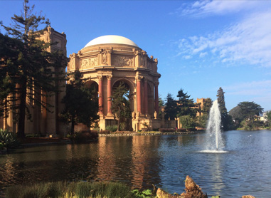 Located next to iconic Palace of Fine Arts