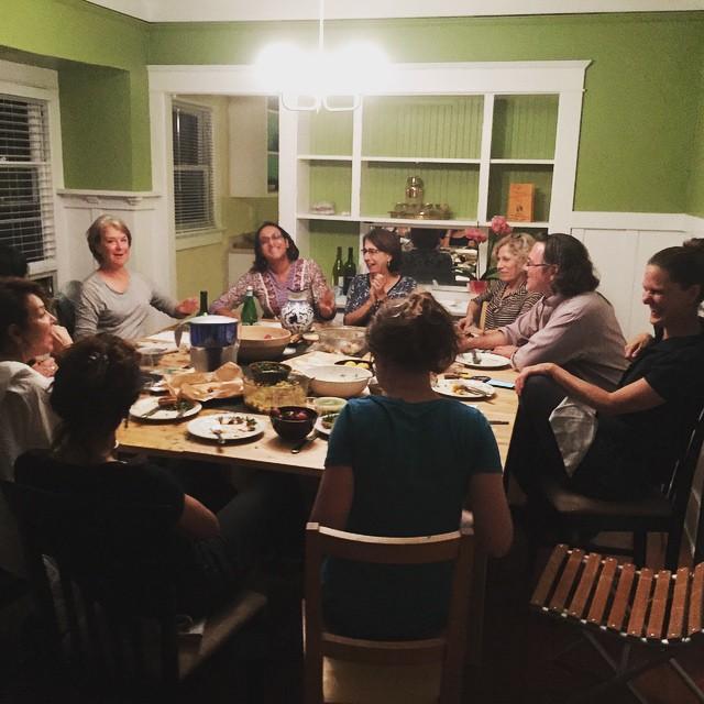 Pictured from bottom left going clockwise: Karen Moss, Suzanne Lacy, Anuradha Vikram, Dorit Cypis, Dana Berman Duff, Stephen Wright & Andrea Bowers, Tracee Johnson & Nicola Goode.
