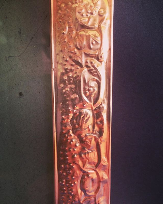 tomorrow's art workshop 3-5pm -- embossing copper! sign up via bio link #littlehousegallery #thursdayartworkshops