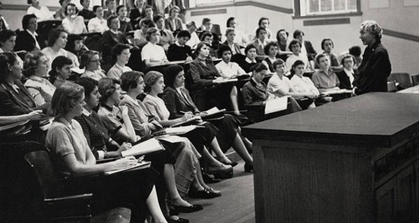 woman lecturing - old school.jpeg
