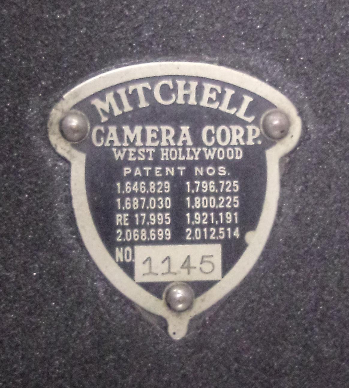 Mitchell Camera plate