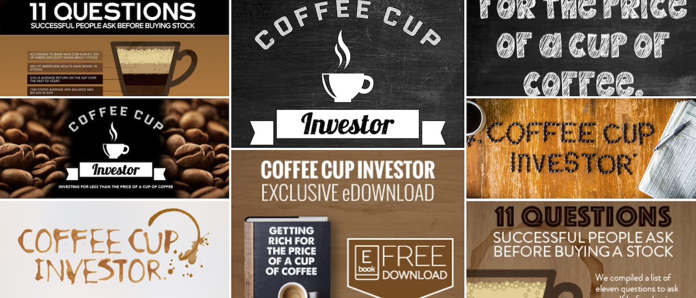 The Coffee Cup Investor was created, conceptualized and designed by Brandon Mushlin with Brandon Mushlin Creative for a Public Traded Company working in the disruptive tech field.