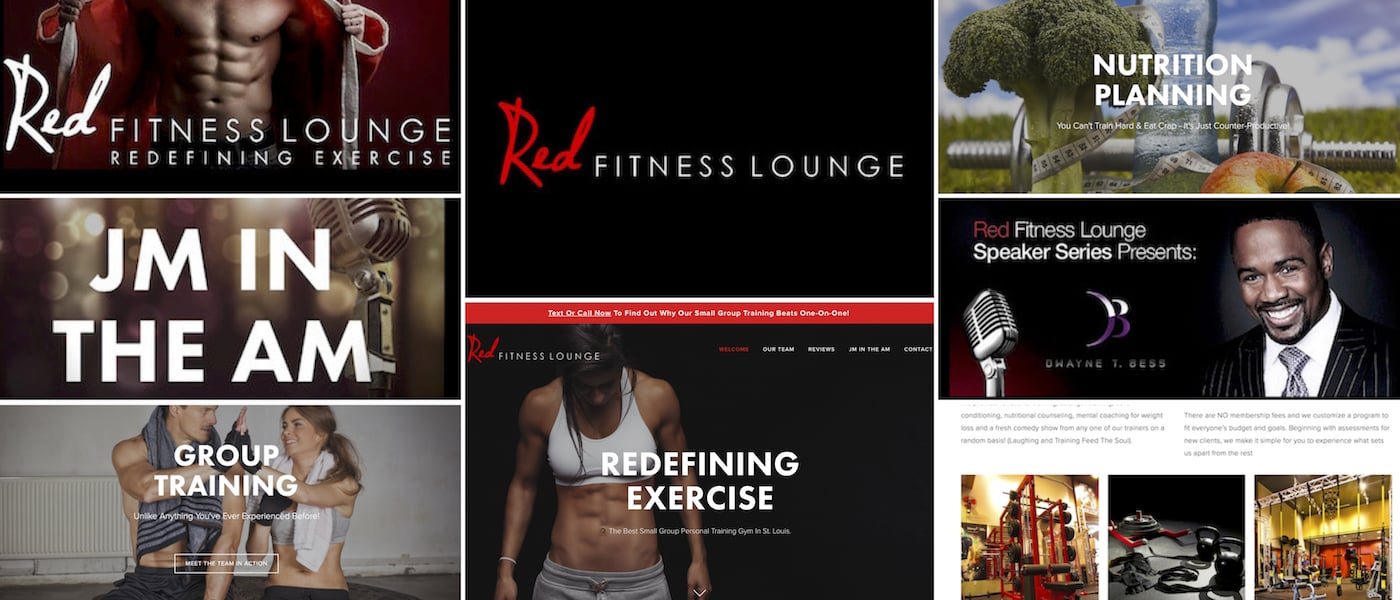 RedFitnessLounge.com has completed multiple redesigns with BrandonMushlinCreative.com, from copywriting to content writing, to graphic design, social media, and more.