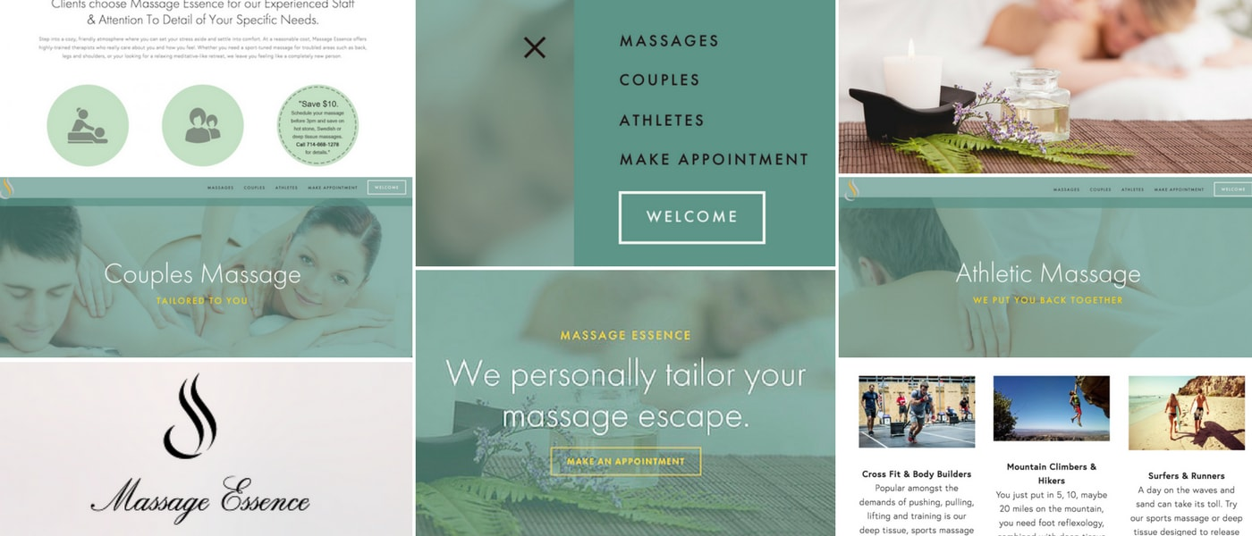 Massage-Essence.com redesign by BrandonMushlinCreative.com as well as content writing and creative direction.