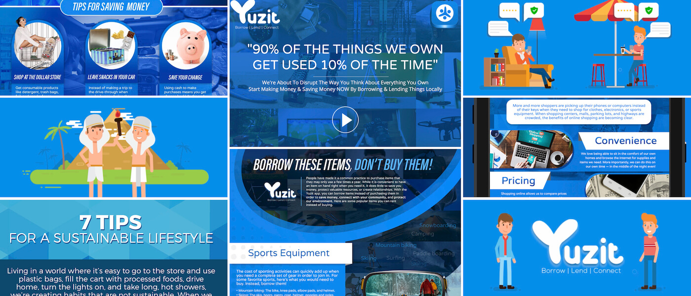 YuzitApp.com is poised to be a disruptor for the sharing economy. From concept, to launch, Brandon Mushlin Creative has worked with the founder and creator to complete a full digital roll out strategy starting in San Diego, CA.