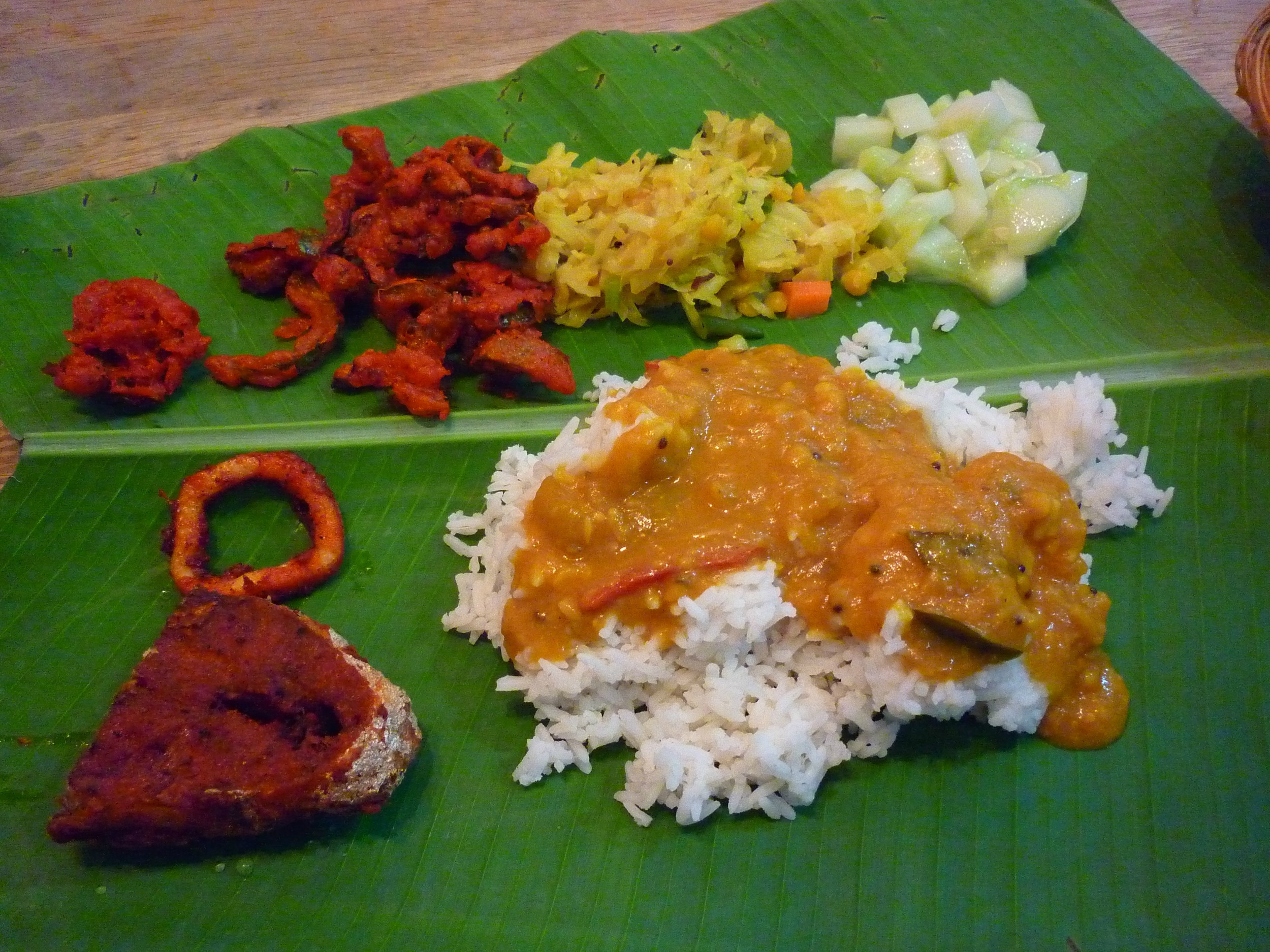 banana leaf curry