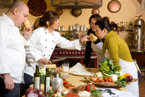 Cooking Under the Tuscan Sun - Follow the chef & learn to cook traditional Tuscan cuisine surrounded by olive groves & vineyards in the beautiful cooking course.