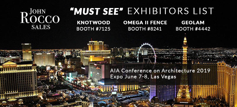 """AIA 2019 Expo """"Must See"""" Exhibitors — John Rocco Sales"""