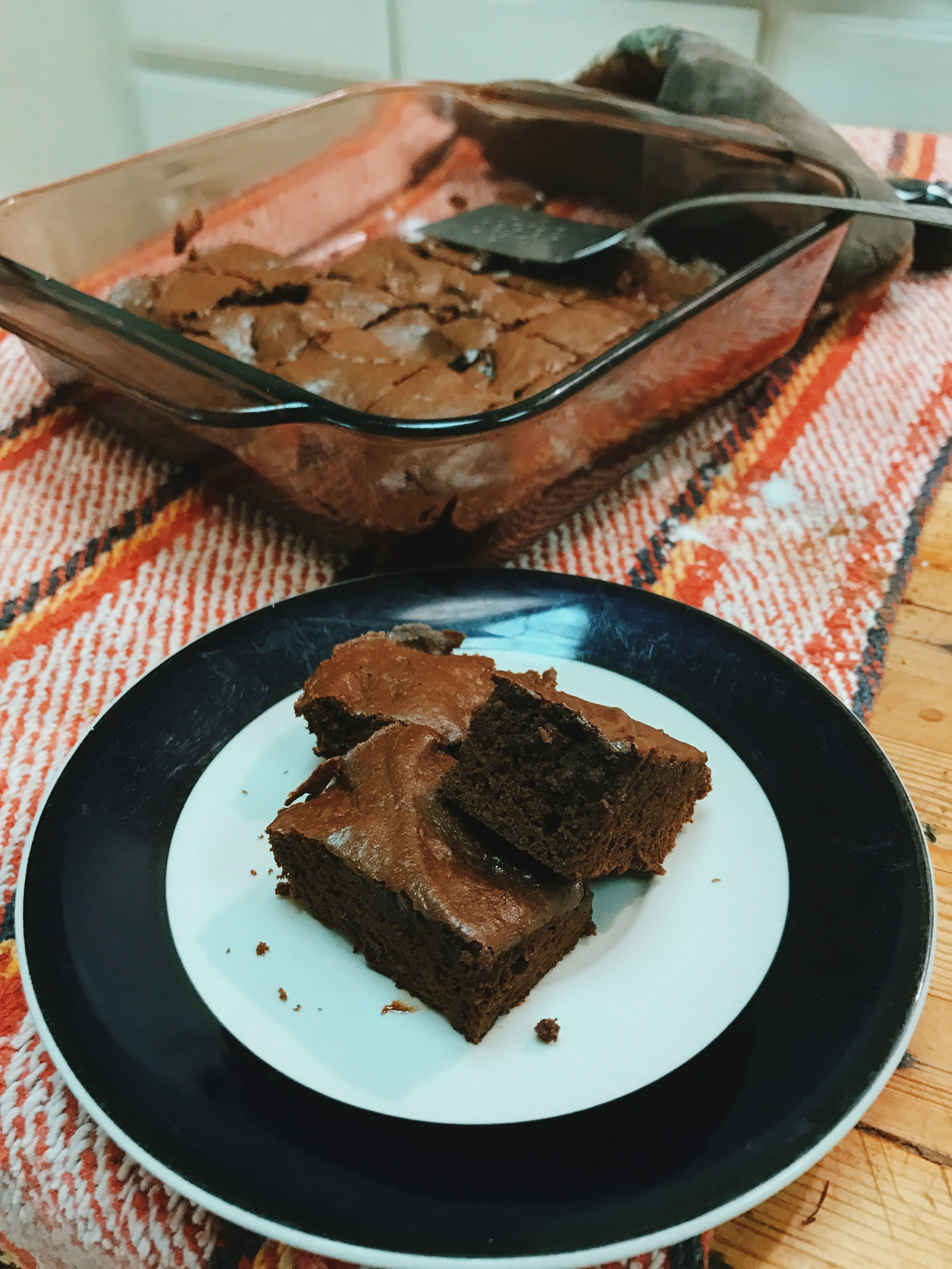 We all need something from time to time that hits the spot that only rich chocolate can. This one bowl brownie recipe makes prep simple. This brownie while still made with butter and sugar is probably better than a store bought mix. A brownie is a brownie. Relax, TREAT YO SELF.
