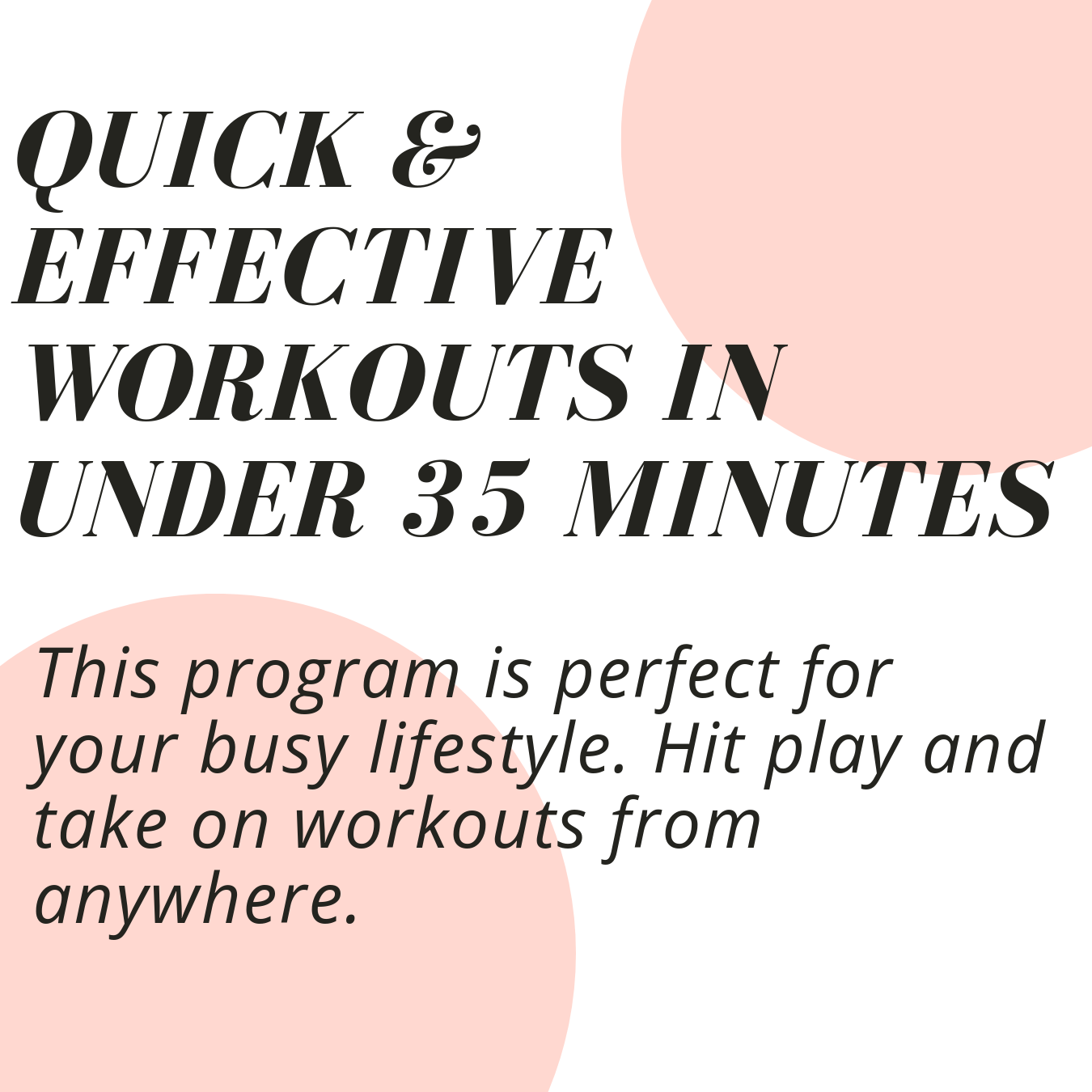 Quick and effective home workouts