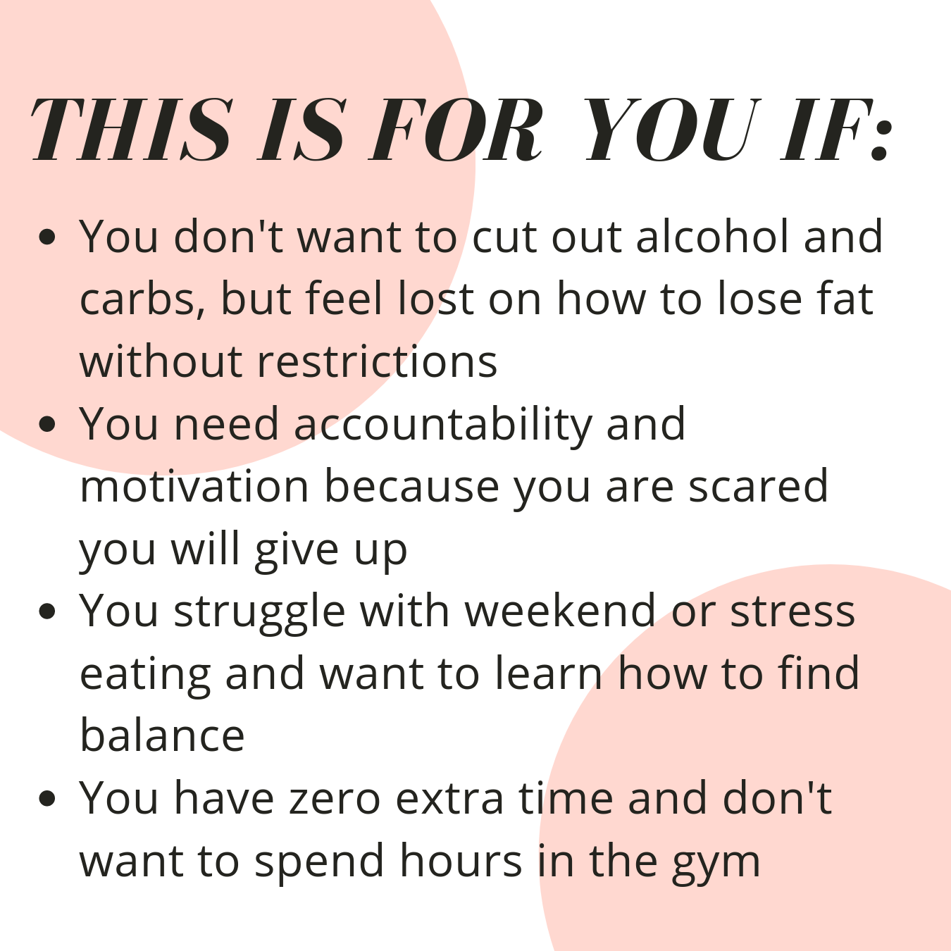 Fat Loss Challenge Info