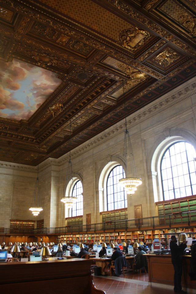 NYC Public Library reading room