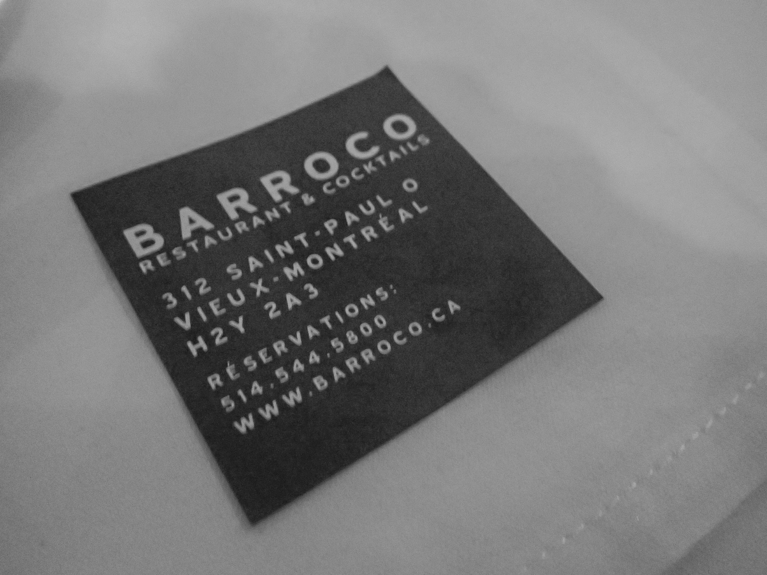 Barocco business card