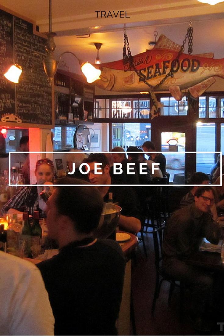 Joe beef montreal