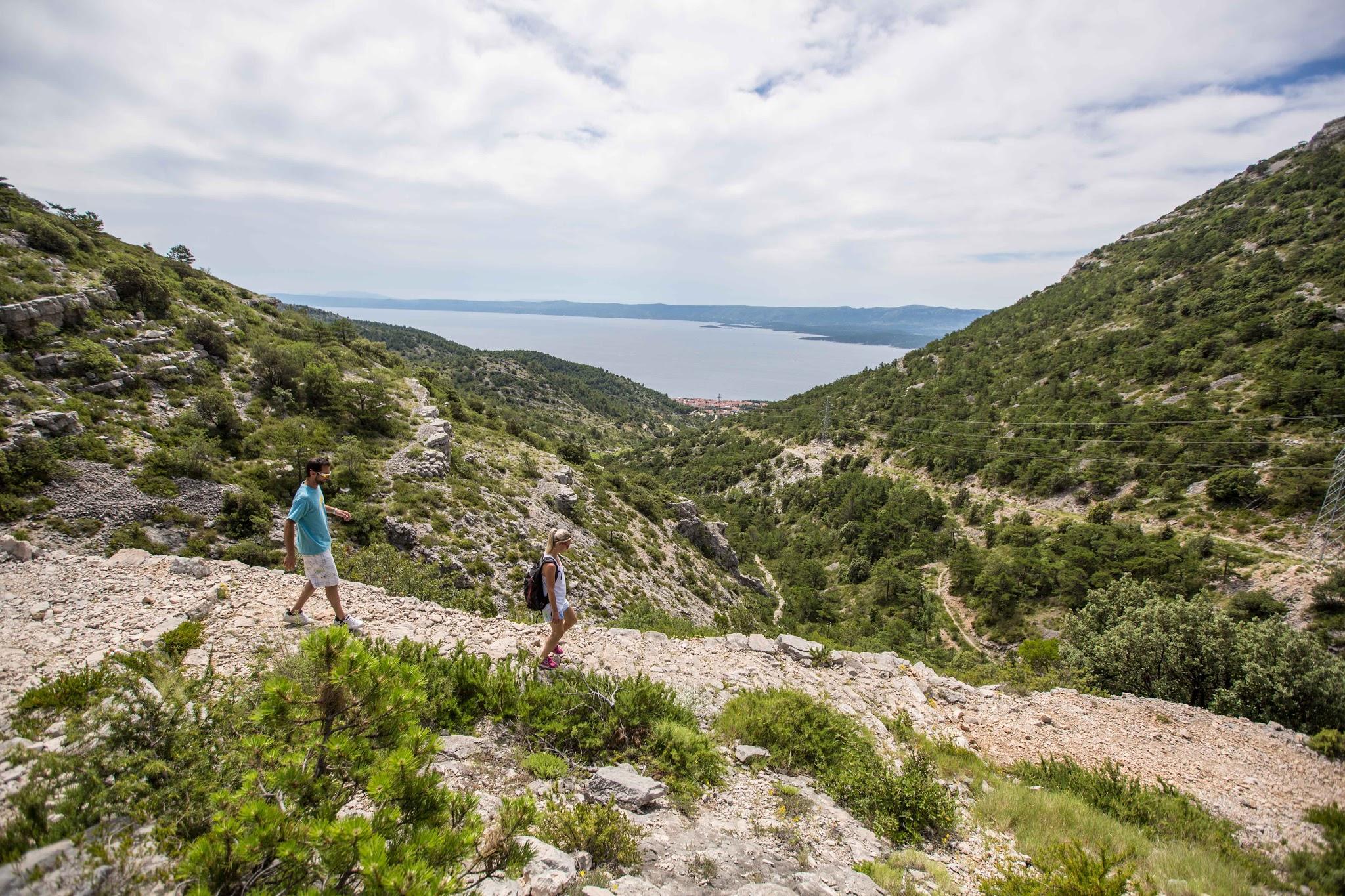 Walk to Vidowa Gora Bol Croatia
