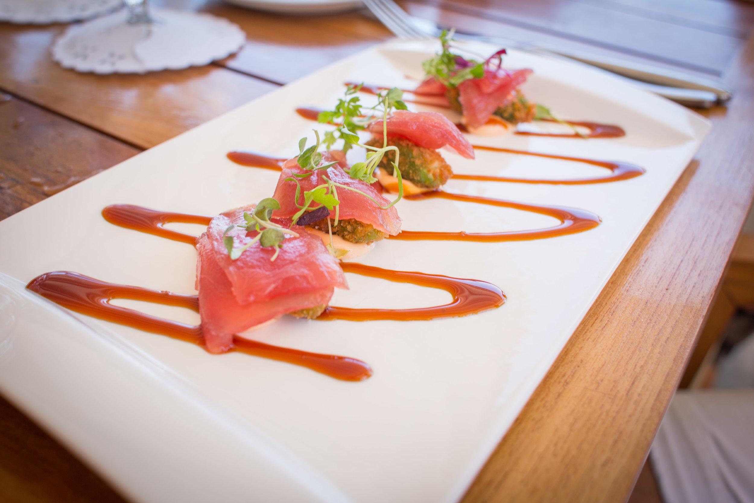 Tuna sashimi at Catch