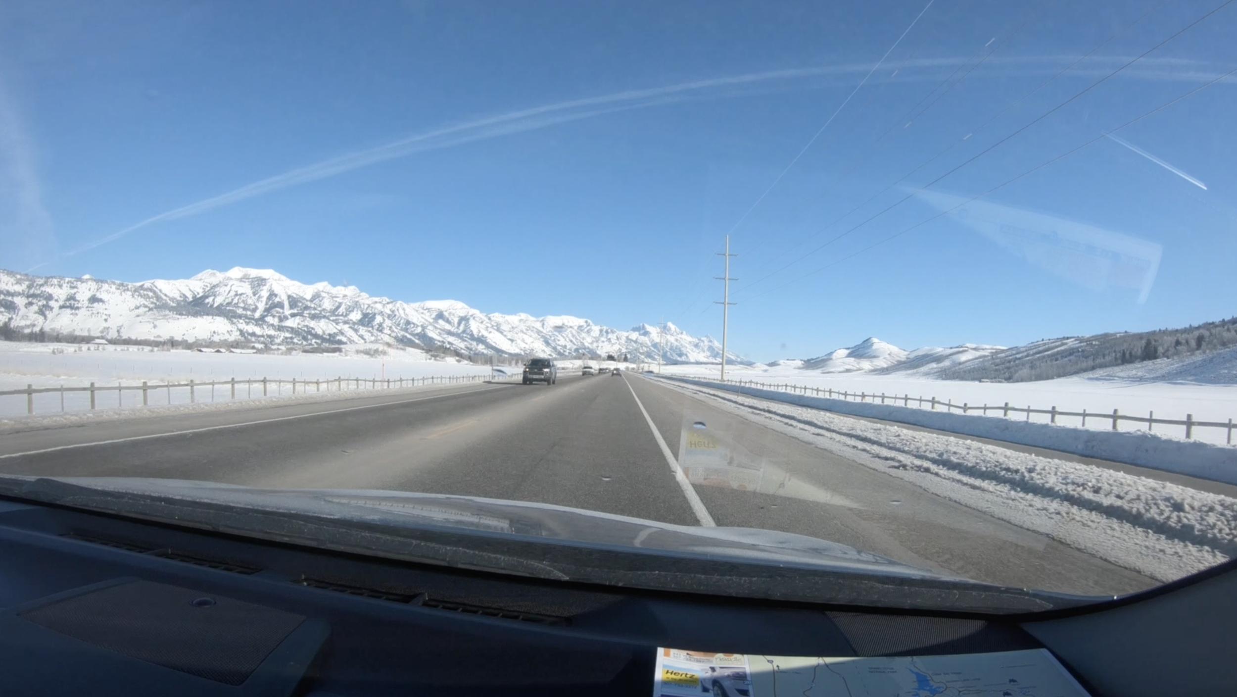 driving Teton pass
