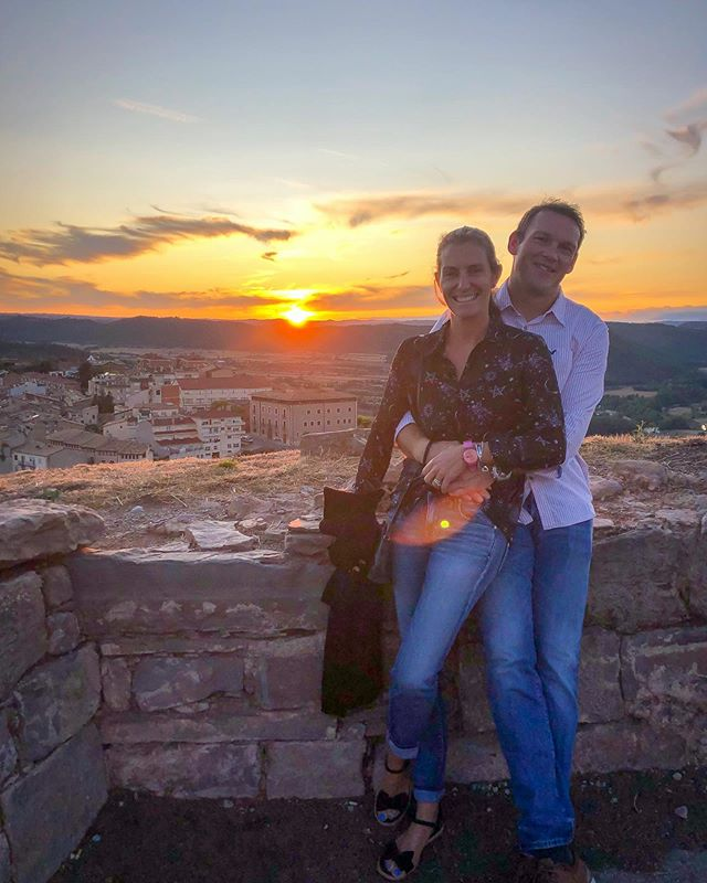 Our last sunset in the north before we head for the south of Spain. Round of applause for this guy who has spent 5 days in a car with his in-laws, driving us over 1000 Kms and putting up with my backseat demands 😜 Onwards to Malaga! . . . #lifeafterloss #travel #thisismymotherhood #spain #cardona #paradores #angelmum #forleo #leoslegacy #stillamum #askmehisname #griefjourney #1in4 #parentingwithemptyarms #normalisegrief