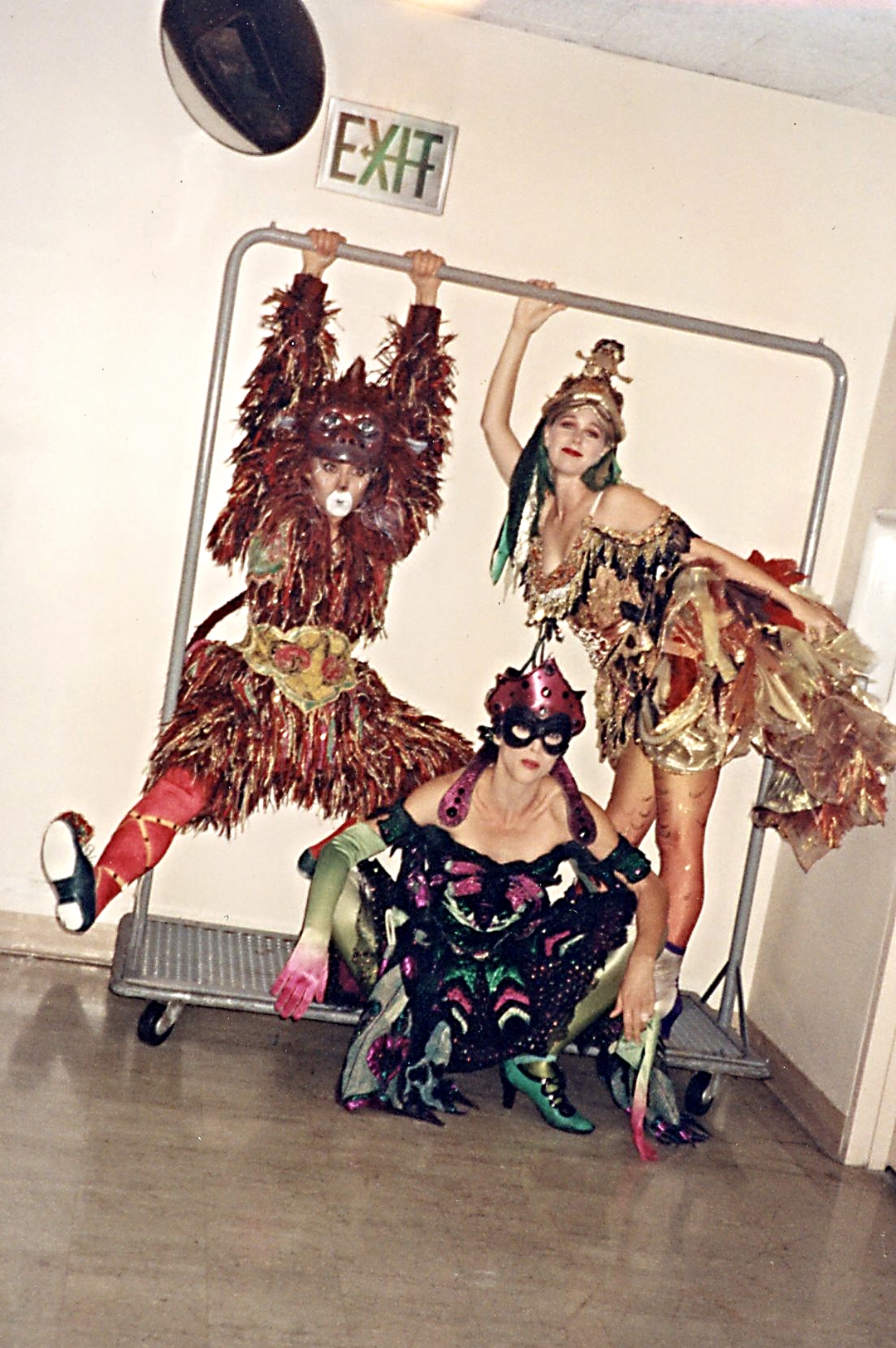 Sylvia Rico, Madelyn Berdes and Natasha hanging out -Phantom of the Opera LA Production