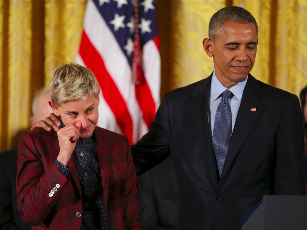 Ellen DeGeneres receives Presidential Medal of Freedom