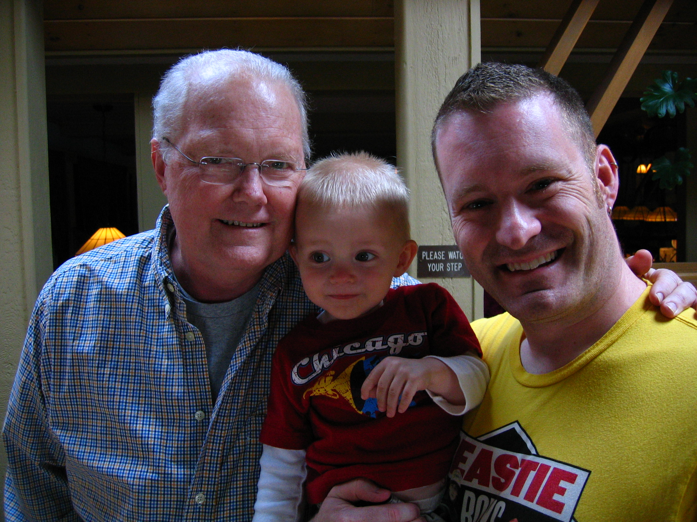 Dad, Gabe and I in 2007. A few months before his death.