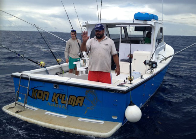 https://commons.m.wikimedia.org/wiki/File:Fajardo_Deep_Sea_Fishing_Charter.jpg Captain Andy      It almost looks a lot like this except with more tinfoil and dirty money